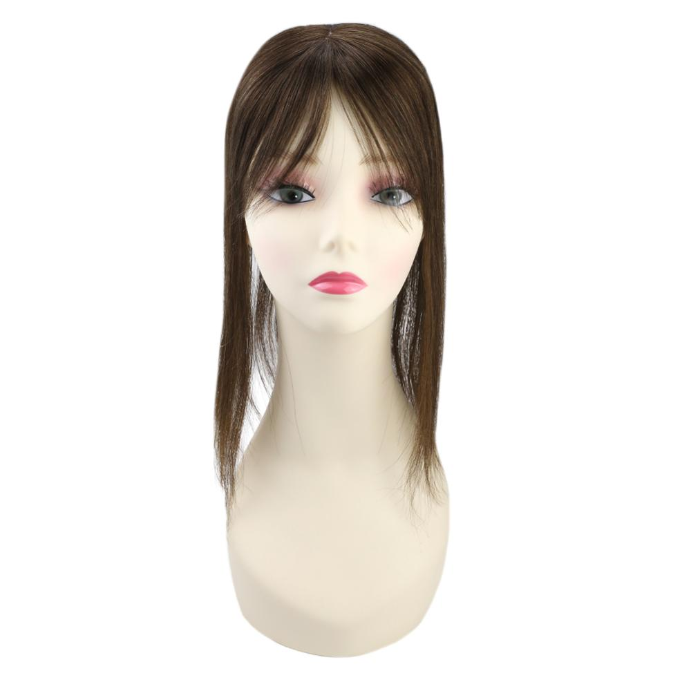 Ugeat Topper Wigs Natural Straight Human Hair For Women Hair Extensions Machine Remy Hair 8-18inch 12*6 Toupee Brazilian Hair