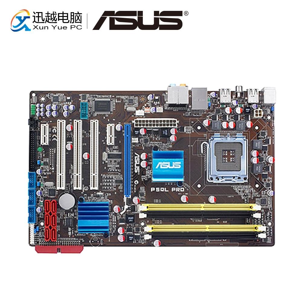 Asus P5QL PRO Desktop Motherboard P43 Socket LGA 775 For Core 2 Duo DDR2 8G SATA2 USB2.0 ATX Original Used Mainboard
