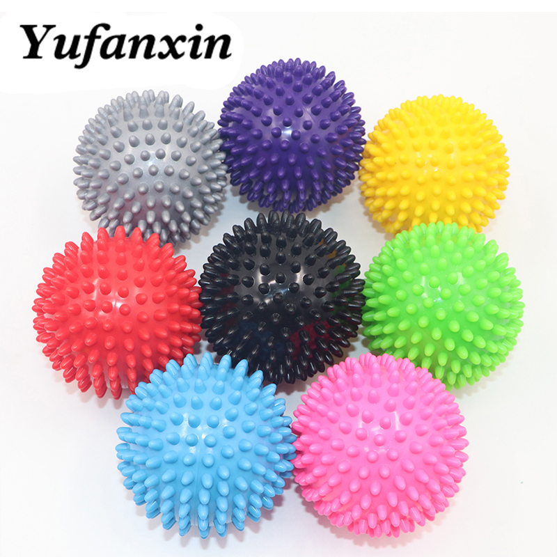 Massage Ball Fitness PVC Hand Soles Hedgehog Sensory Training Grip the Ball Portable Physiotherapy Ball 7.5CM 8 Color Wholesale(China)