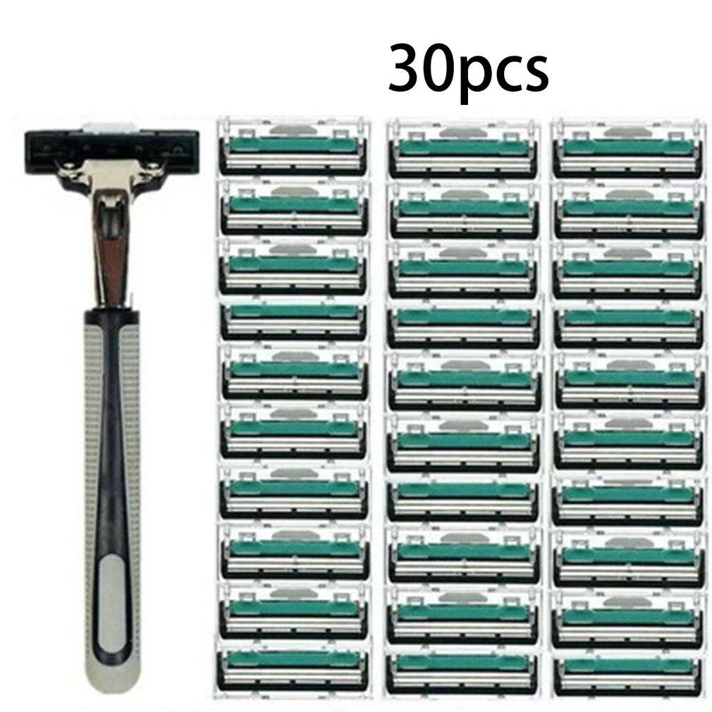 CM-99-1 Men's Manual Razor Double Layer Razor 1 Knife Holder 30 Cutter Head Men's Beard Knife Razor Tool