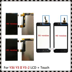 For Huawei Y3ii Y3 II Y3 2 3G 4G LUA-U03 LUA-L03 LUA-U23 LUA-L13 LUA-L23 LUA-L21 Lcd Display or Touch Screen Digitizer Sensor(China)