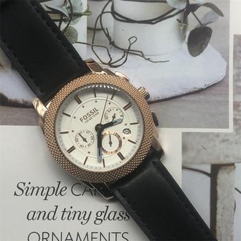 Fossil Mens 6 Pin Quartz Watch Luxury Date Display Leather Strap Wristwatch Clock meskie relogio masculino 2020