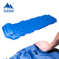 Portable Outdoor Camping Hiking colchon inflable Thicken Moisture proof Inflatable Sleeping Mattress Mat bed Built in air pump