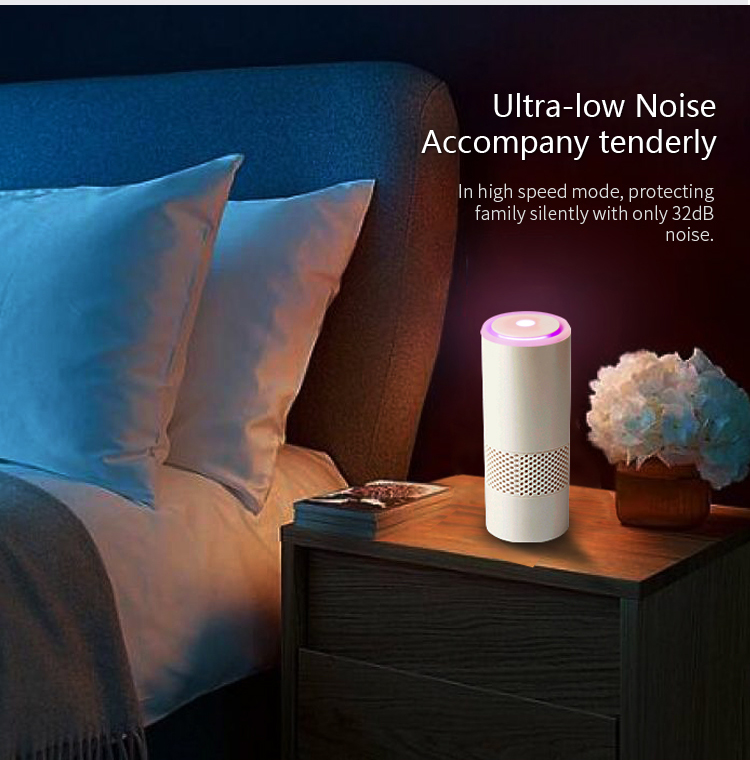 Home Anion Air Purifier Negative Ioniz Smart Clean Air Cleaner Portable Generator Sterilization Disinfection Car Use Working