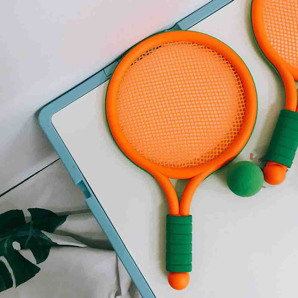 Купить с кэшбэком Children's tennis racket badminton racket parent-child interactive sports outdoor sports games toys