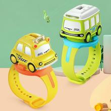 Mini Alloy Bus Taxi Style Model Pull Back Car Watch Toy Watc