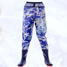 Wader-Pants Shoe Breathable with for Outdoor Outside Blue Camouflage Camouflage