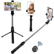 Sans fil Bluetooth Selfie bâton trépied extensible monopode portable pliable Mini trépied avec obturateur à distance pour iPhone Android