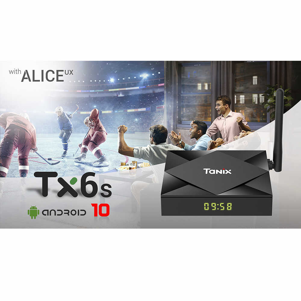 Presale TX6S Tanix Android 10.0 TV Box H616 Chip TX6 4GB 64GB Smart TV Box Media Player Dual akses Internet Nirkabel Bluetooth 8K TV Set Top Box