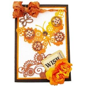 Image 5 - Металлические Вырубные штампы в стиле стимпанк Скрапбукинг на колесиках фон высечка для рукоделия бумажная карточка