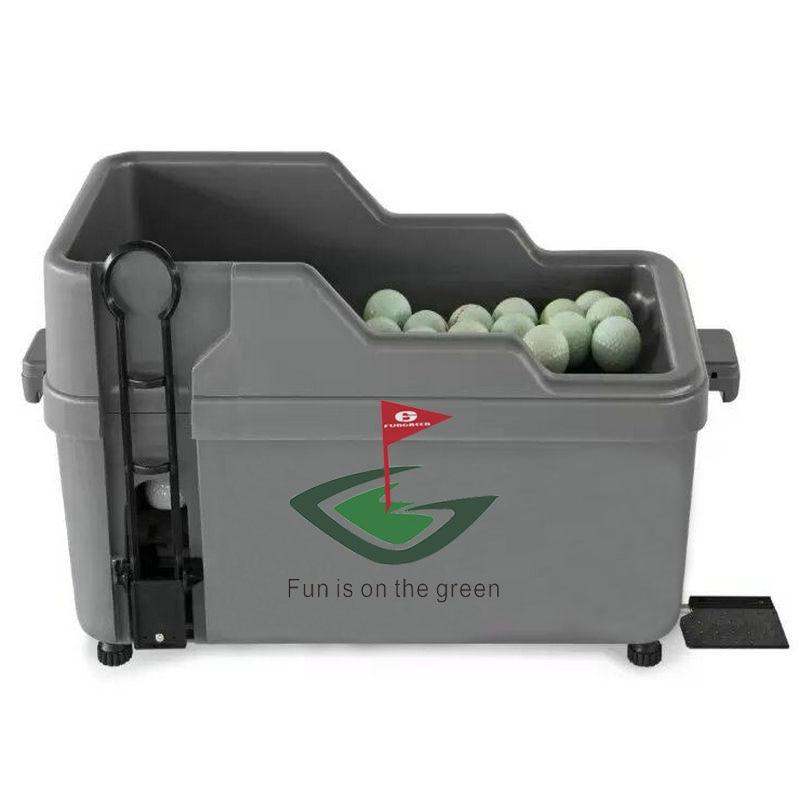 FUNGREEN Golf Ball Dispenser Half Automatic Can Hold 80pcs Balls Golf Club Organizer Semiautomatic Golf Ball Dispenser