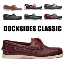 Genuine Leather Men Women Casual Shoes Boat Shoes Docksides Classic Loafers Moccasins Gray Driving Shoes England Flats 2019A037