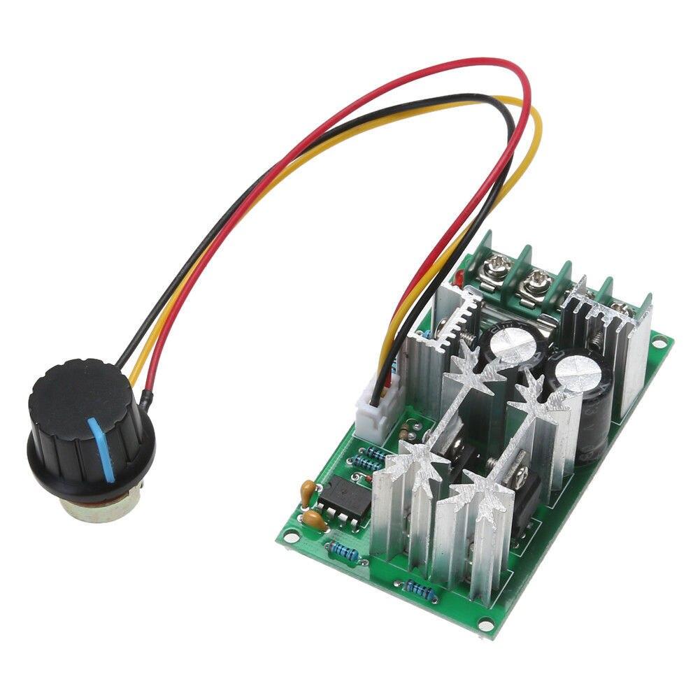 Novo tipo módulo de controle de velocidade do motor pwm 1200w 20a dc 12v/24v/36v/48v/60v 25khz unidade de controlador estável