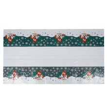 Christmas Disposable Tablecloth Festive Rectangle Oblong Table Cloth Xmas Tableware Dining Kitchen Table Cover 110*180cm(China)
