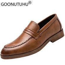 2020 стильная модная мужская обувь повседневные кожаные Лоферы