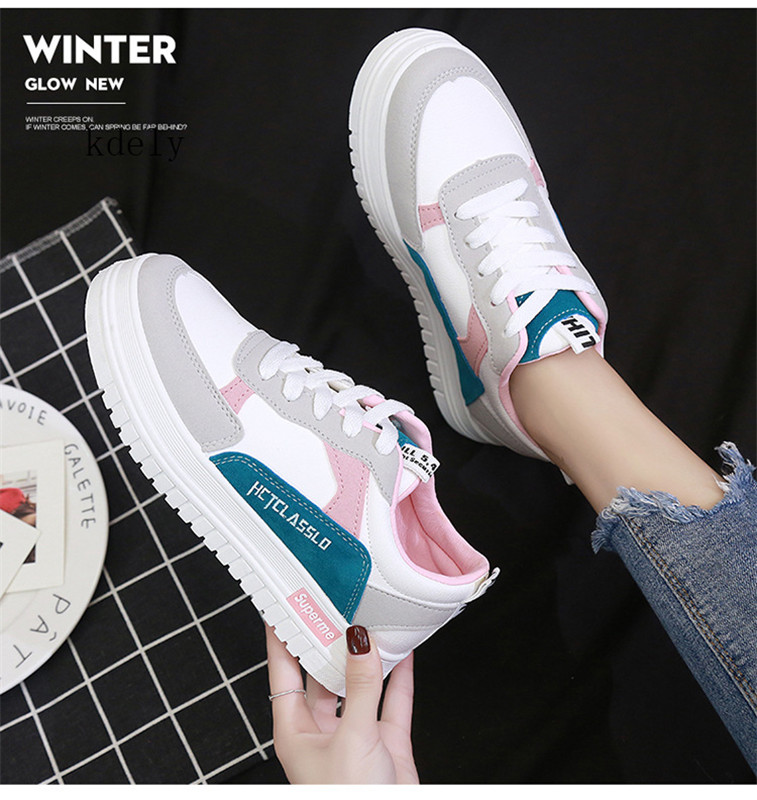 2019 Hot New High Quality Wedges White Shoes Female Platform Sneakers Women Zapatos De Mujer Casual Female Shoes Woman Size35-40