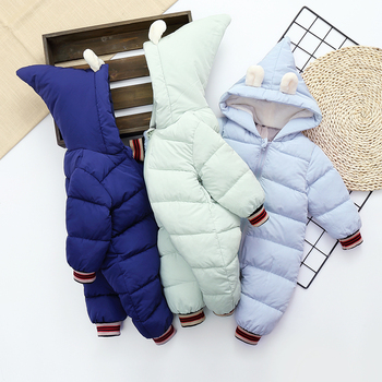 Baby Boys Clothes Winter Baby Coats Rompers Cotton Hooded Warm Jumpsuit Newborn Thicken Rompers Infant Onesie Costume Snowsuit winter newborn rompers baby girls boys cotton infant hooded warm overalls clothes kids high quality cartoon jumpsuit outerwear