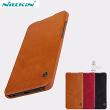 Huawei p30 caso nillkin qin série couro do plutônio da aleta capa para huawei p30 pro/p30 lite
