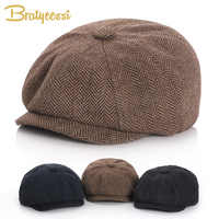 New 2019 Baby Hat for Boys Vintage Newsboy Kids Cap Baby Boys Hat Autumn Winter Baby Cap for Boy Children Hats 52/54
