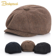 New 2019 Baby Hat for Boys Vintage Newsboy Kids Cap Autumn Winter Boy Children Hats 52/54