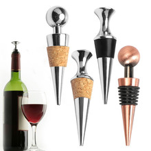 5 Styles Stainless Steel Wine Stopper Sparkling Grape Wine Bottle Plug Vacuum Sealer Sparkling Wine Champagne Cap Bar Tools