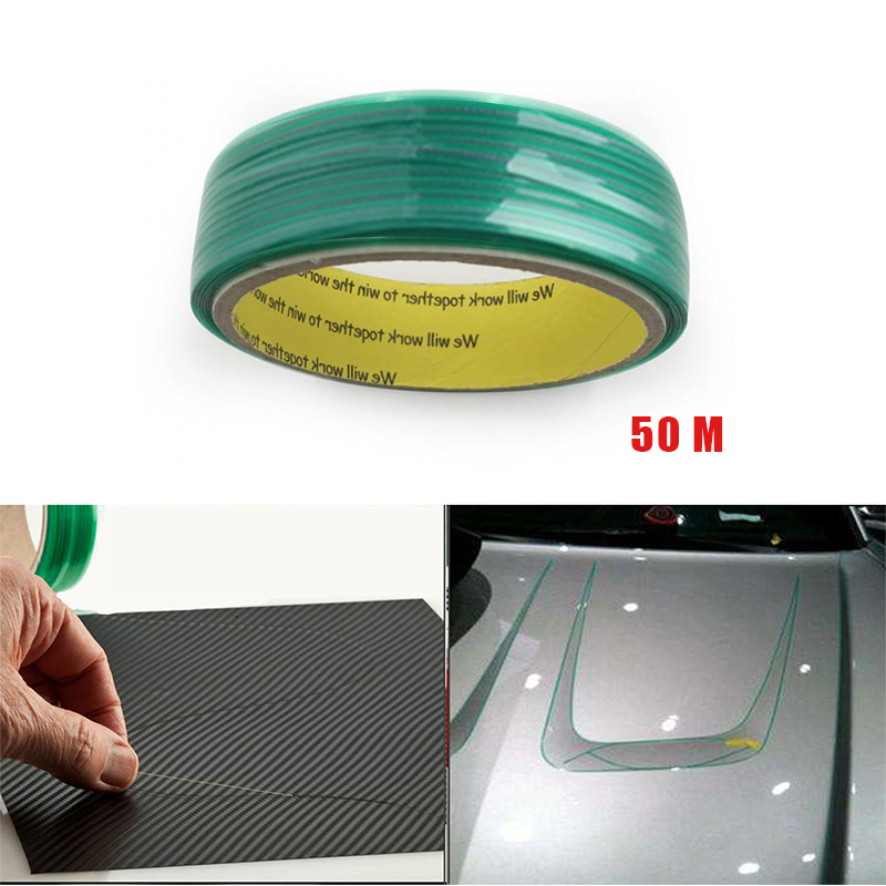 50M Vinyl Wrap Car Stickers Knifeless Tape Design Line Car Film Wrapping Cutting Tape Knife Car Styling Tool Accessories