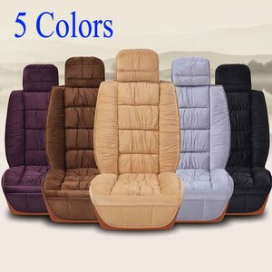Image 2 - Warm Car Seat Cover Universal Winter Plush Cushion Faux Fur Material For Car Seat Protector Mat Car Interior Accessories