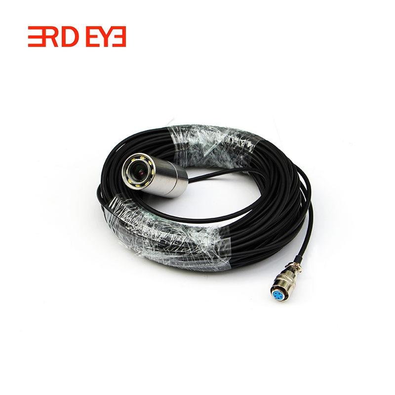 Звездный уровень 0.0001Lux Ночное видение 8-Мощность белый свет Подводные камеры видеонаблюдения Камера - Цвет: 10m cable