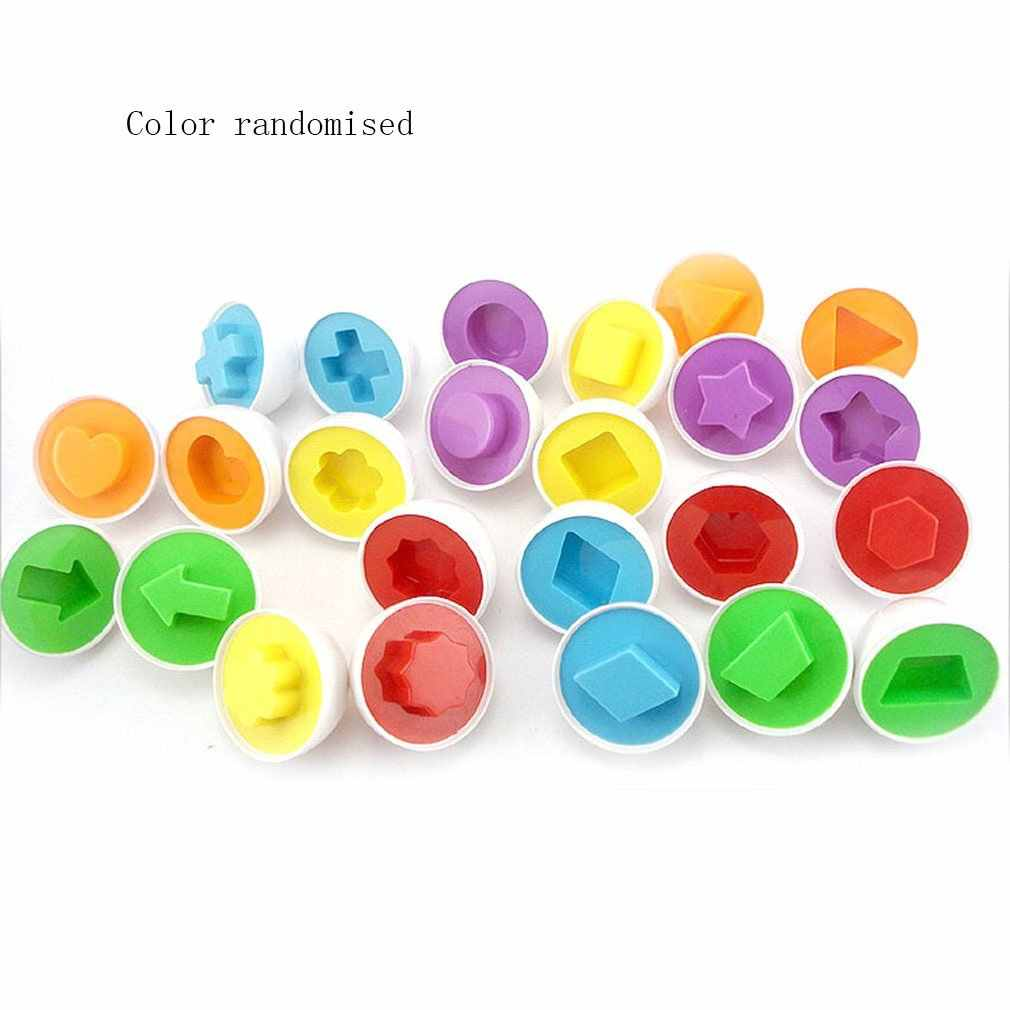 1 pc Education Learning toys Mixed Shape Wise Pretend Puzzle Smart Eggs Baby Kid Egg Learning Puzzles for Children