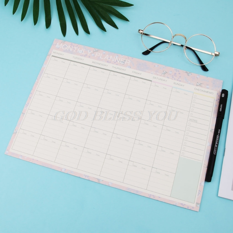 Monthly Paper Pad 20 Sheets DIY Planner Desk Agenda Gift School Office Supplies Drop Shipping