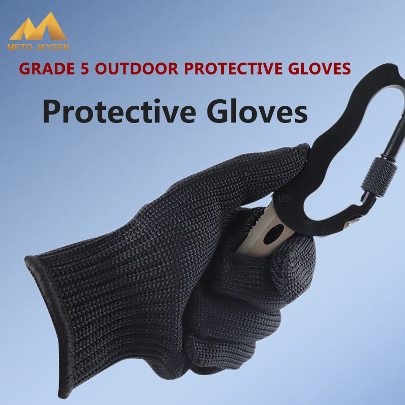 Outdoor Sports Hunting Equipment Full Stainless Steel Wire Metal Mesh Self-Defense Protective Safety Gloves Climbing