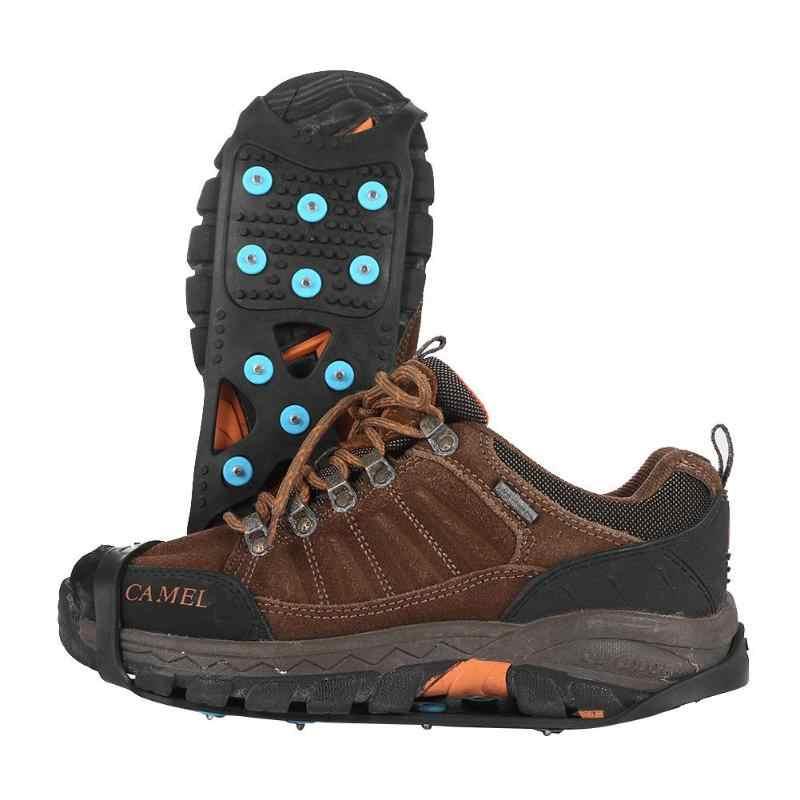 11 Kancing Crampon Paku Anti Slip Es Cleat Outdoor Sepatu Bot Salju Grip Ski Aksesoris Outdoor Camping Hiking Bepergian