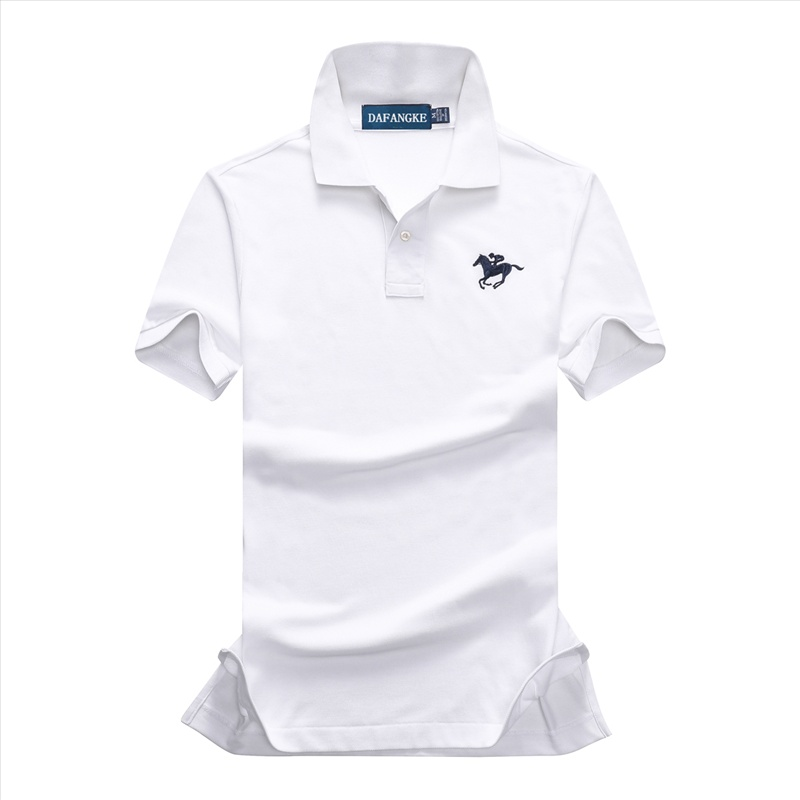 New Summer Brand Mens Polo Short Sleeve Polos Shirts Business Casual Mens Solid Cotton Lapel Polos Shirts  Mens Golf Slim Tops