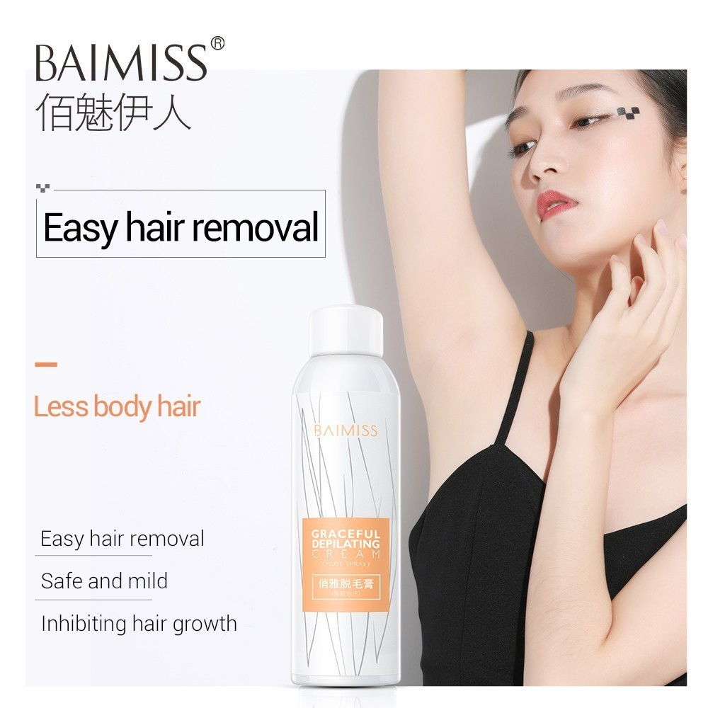 BAIMISS Hair Removal Cream Painless Permanent Muse Spray Depilatory Wax Graceful Depilating Natural Depilation Gentle Effective