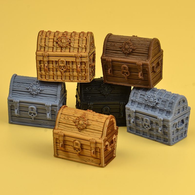 GLOOMHAVEN TRPG Dungeons Miniature Match All Common Board Game 3D Token Scene Tools  Treasure Chest Box Models Figures Figurine