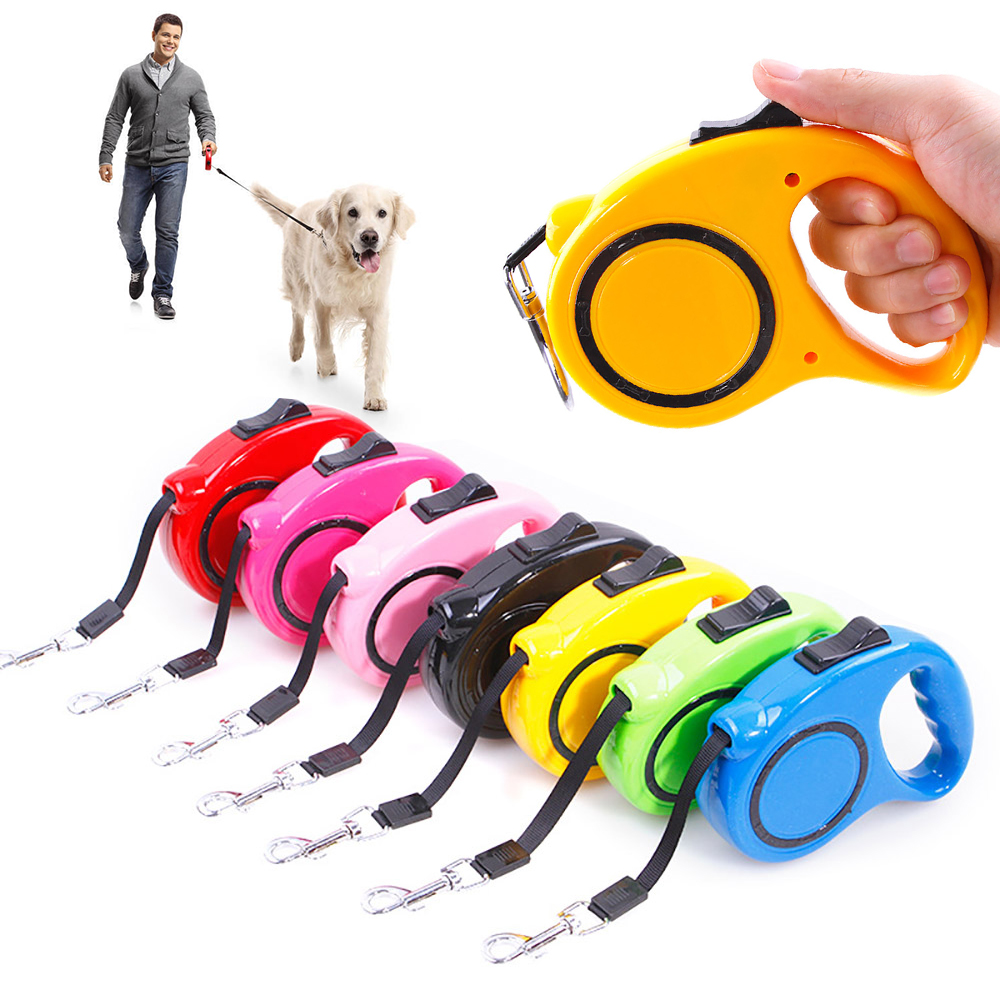 Retractable Dog Leash Leads Extendable Small Puppy Dog Pet Auto Leads 3m//5m Long
