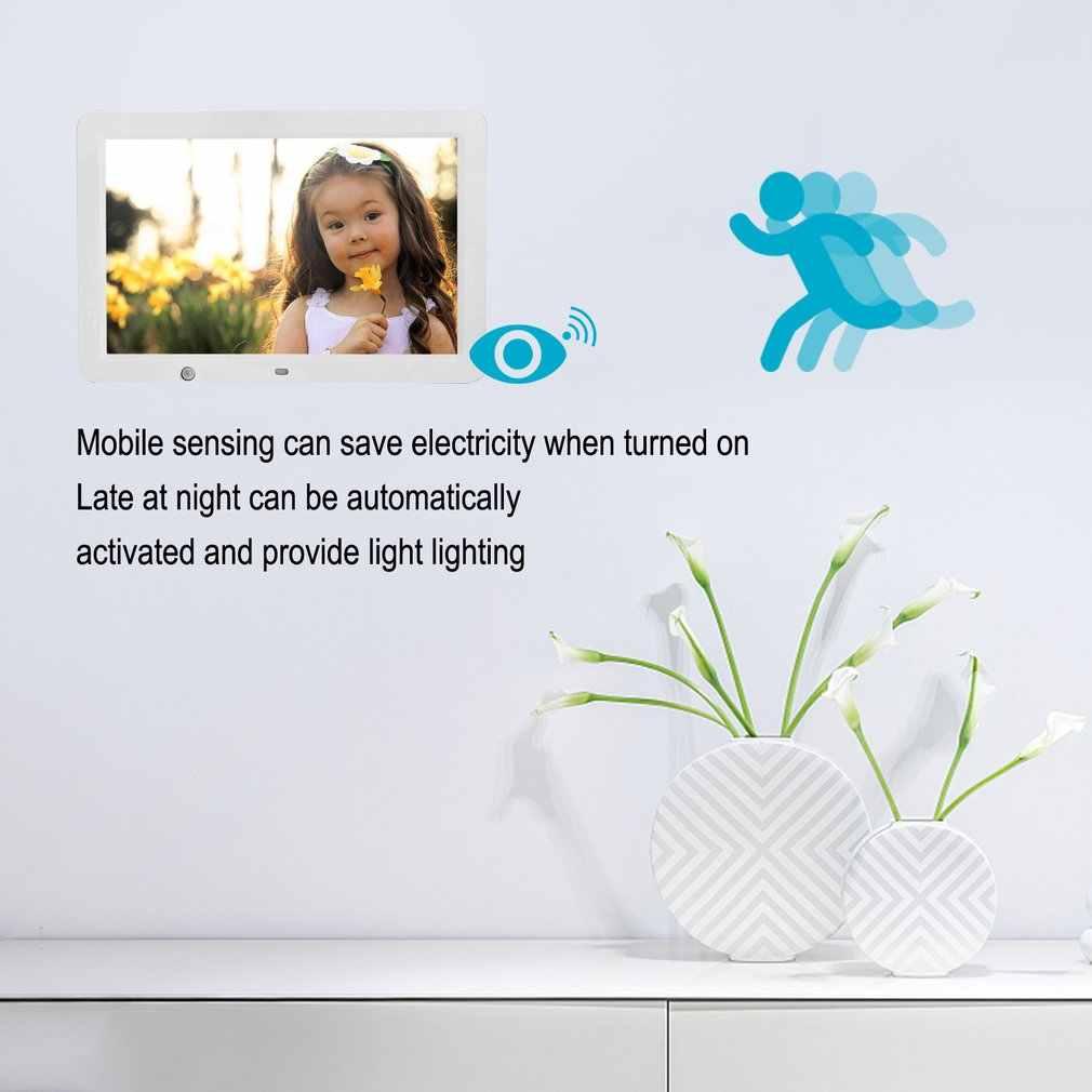 12 inç HD dijital fotoğraf çerçevesi hareket sensörü ve 8GB bellek LED resim çerçevesi kablosuz uzaktan kumanda müzik MP3 Video MP4