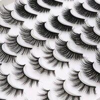 20 Pairs Mix 2 Stijlen 4 Stijlen 3D Natuurlijke Eyeslashes Extensions Lange Wimpers Piekerige Make-Up Beauty Extension Gereedschap