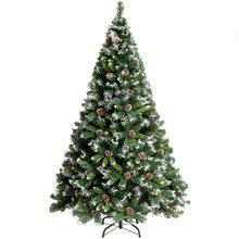 Christmas Trees with Pine Cones Snowflake Decor 1.2m 1.5m 1.8m 2.1m Artificial xmas Tree Small Large New Year Holiday Decoration(China)