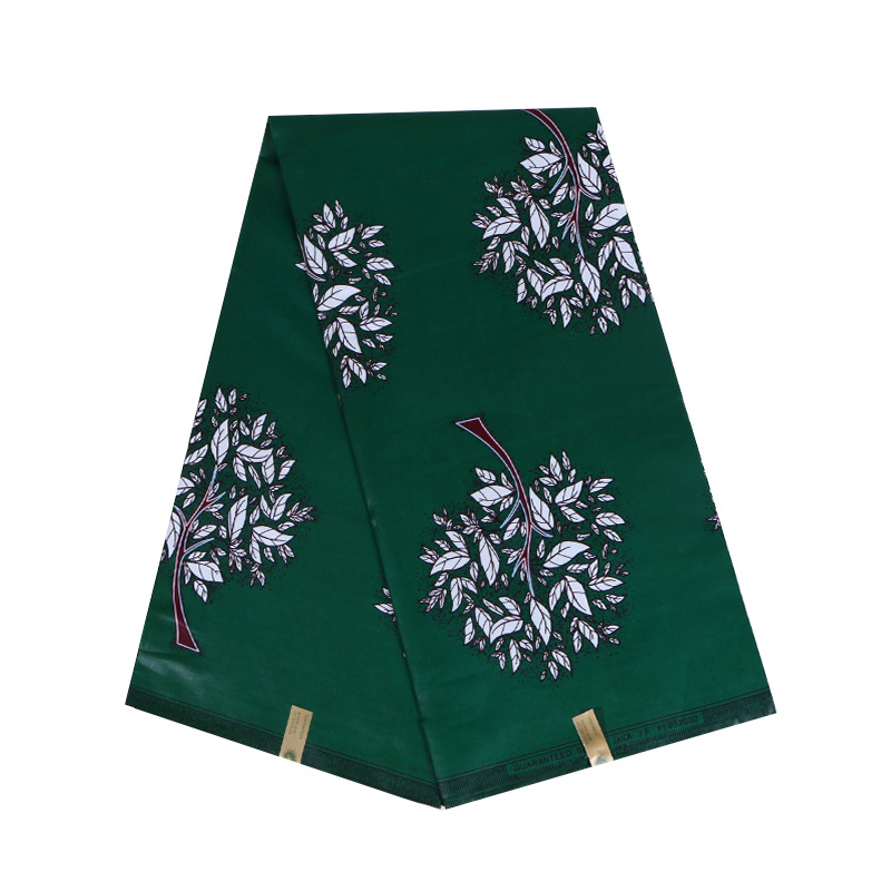 100% Cotton Green African Trees Print Fabric Dutch Wax High Quality