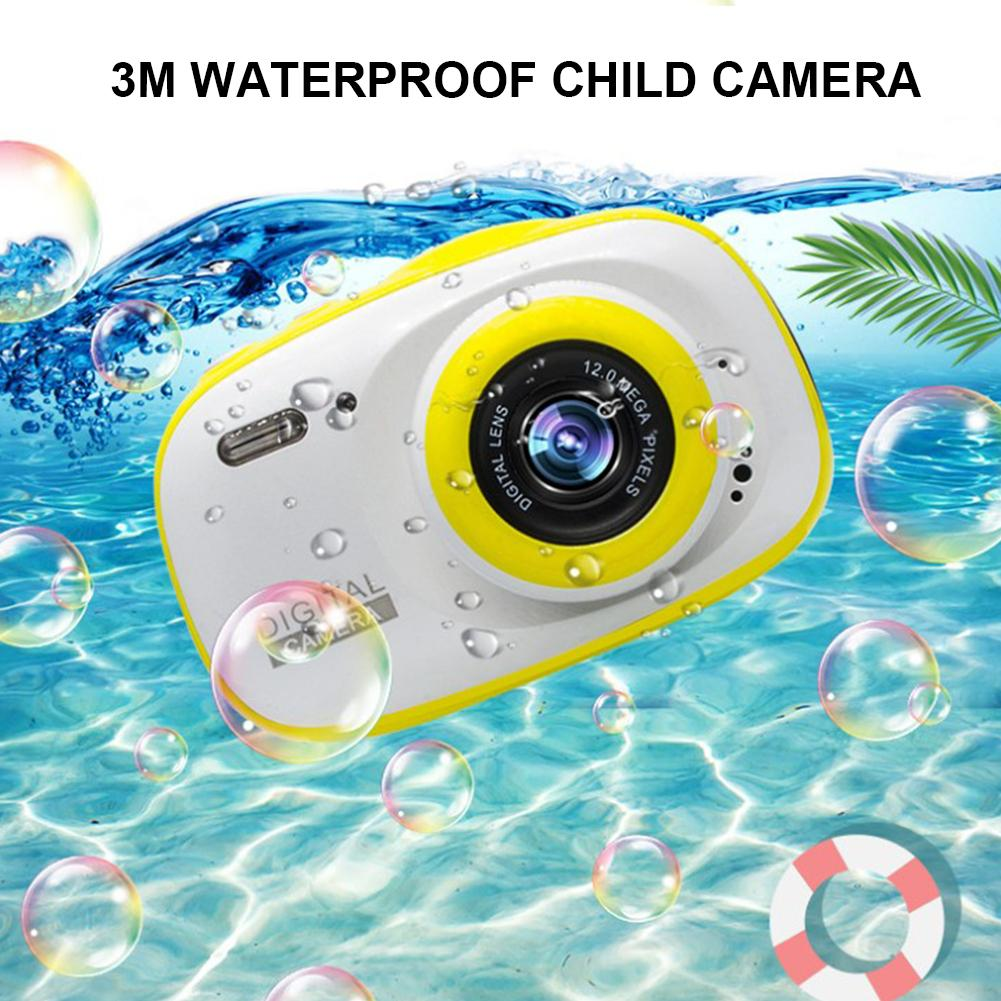 Kids Camera 1080P HD Rechargeable Children Shockproof Digital Front Rear Selfie Camera Child Toy Camcorder Waterproof LCD Scree