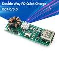 QC 4,0 QC 3,0 Doppel Weg PD Handy Power Bank Quick Charge 3,7 V zu 5V 9V 4,5 EIN 18W Typ-C USB Boost Ladegerät Platine