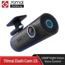 70mai inteligente traço cam 1s inglês controle de voz 130 fov 1080p hd visão noturna carro dvr 1s 70 mai 1s gravador carro wifi dvr vídeo