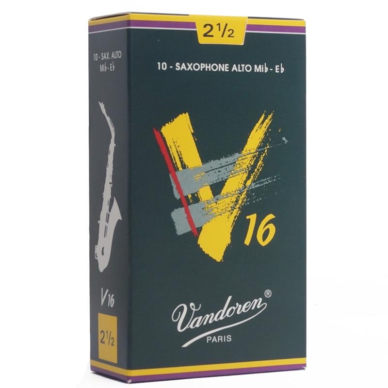 France Vandoren V16 Alto Sax Reeds A Box Of 10 Piece / Saxophone Alto Eb Reeds 2.5#, 3#,