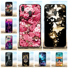 For Samsung Galaxy M20 Case Soft TPU Silicone SM-M205F Cover Floral Patterned Bag