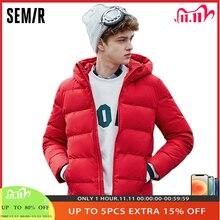 SEMIR Winter Jacket Men 2020 New Thick Down Coat 80% Duck Down jackets Slim Hooded waterproof Solid Outwear coat for Man
