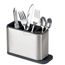 Surface Stainless-Steel Cutlery Drainer with easy-drain spout kitchen Storage 20*13.5*8.4cm(China)