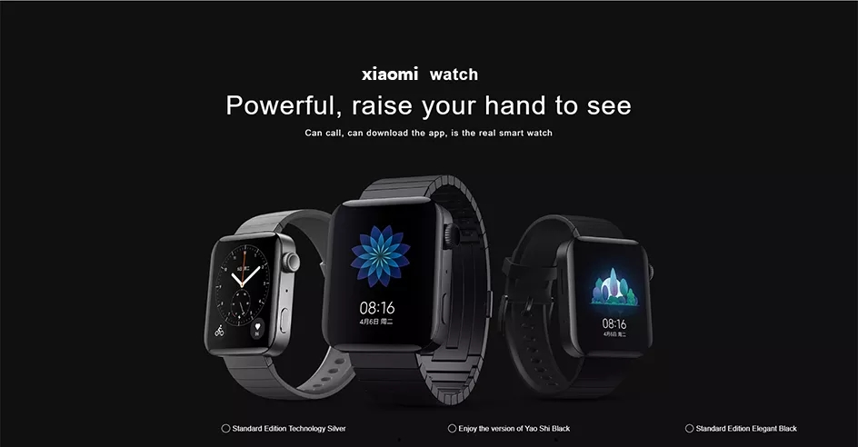 Original Xiaomi Smart Mi Watch GPS NFC WIFI ESIM Phone Call Bracelet Android Wristwatch Sport Bluetooth Heart Rate Monitor