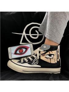 Canvas Shoes Sneakers Vulcanized-Shoes Naruto Gaara Sasuke Madara Kakashi Cosplay Anime
