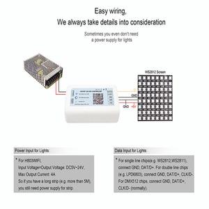 Image 5 - DC5 24V HA CONDOTTO il Regolatore WIFI Max 2048 Pixel Supporto Decine di Chip Striscia di Pixel ArtNet A Distanza di Controllo H803WF Controlador RGB